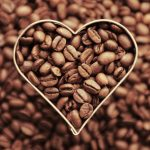coffee, coffee beans, heart